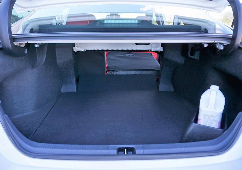 The Camry's trunk is notably smaller than the Accord's.