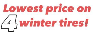 Lowest price on 4 winter tires.