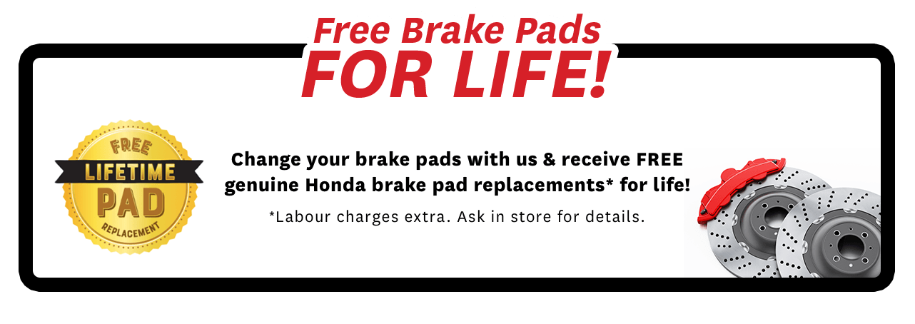 Free Break pads for life